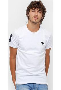 Camiseta Rg 518 Básica Bordada Masculina - Masculino-Branco