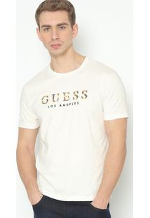 "Camiseta ""Guessâ®"" - Off White & Amarela - Guessguess"