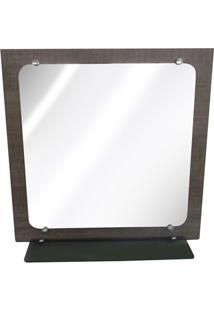 Espelheira Em Mdf Florença 60X60Cm Roble
