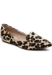 Sapatilha Violanta Romenia Leopardo Feminina - Feminino-Marrom