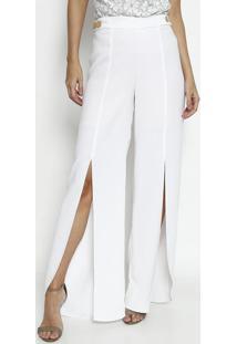 3c34efae9 ... Calça Pantalona Com Botões - Branca - Agilitáagilitá