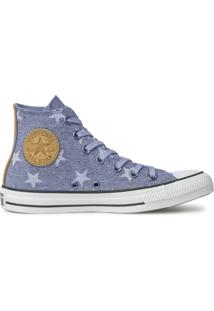 Tênis Converse All Star Chuck Taylor Hi Azul Indigo Ct13890001 - Tricae