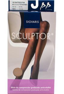 Meia Calça Anticelulite Sigvaris Sculptor 15-20Mmhg Gg (Tamanho Extra Grande) Curto (Gg1) Cor Natural Ponteira Fechada