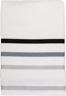 Toalha De Banho Felpuda 100% Algodão 67X140 Lumiere - Teka - Branco / Cinza