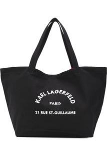 Karl Lagerfeld Bolsa Tote K/Rue St Guillaume - Preto