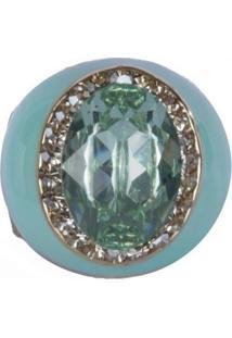 Anel Armazem Rr Bijoux Resinado Pedra Verde