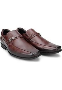 Sapato Social Couro Mariner Fivela Aston Masculino - Masculino-Marrom