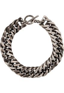 Ann Demeulemeester Chain Choker - Prateado