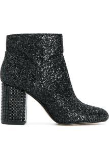 Michael Michael Kors Ankle Boot 'Arabella' Com Brilhos - Preto