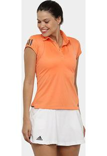 Camisa Polo Adidas Club 3 Stripes Feminina - Feminino
