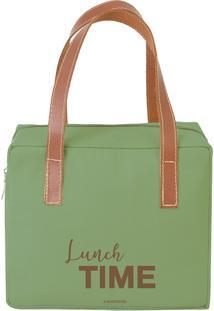 Bolsa Térmica Quadrada Lunch Time Verde - Boxmania