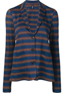 Woolrich Blazer Listrado De Jersey - Azul