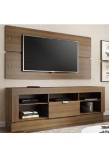 Rack Com Painel Para Tv 1 Porta Atlanta Rustic - Madesa