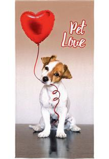 Toalha De Banho Pet Love Colorida