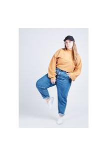 Calça Jeans Slouchy Azul Escuro Gang Plus Size Feminina
