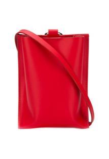 Venczel Bolsa Transversal Com Bolso - Vermelho
