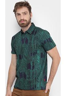 Camisa Polo Forum Full Print Bamboo Masculina - Masculino
