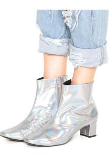 Bota Dafiti Shoes Furta Cor Prata