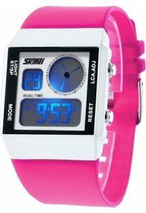 Relógio Skmei Anadigi 0841 - Feminino-Rosa