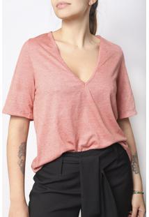 Camiseta Gola V Superfluous Eco Goiaba