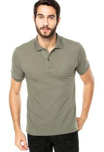 Camisa Polo Lacoste Logo Verde