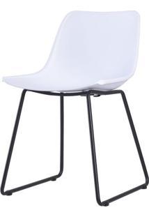 Cadeira Clyde Branca Com Base Preta - 58171 - Sun House