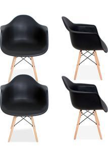 Kit 04 Cadeiras Decorativas Lyam Decor Melbourne Preto. - Tricae