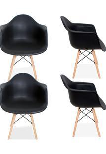 Kit 04 Cadeiras Decorativas Lyam Decor Melbourne Preto