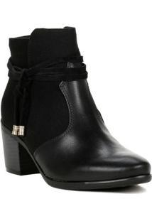 Bota Feminina Comfortflex Ankle Boot Preto
