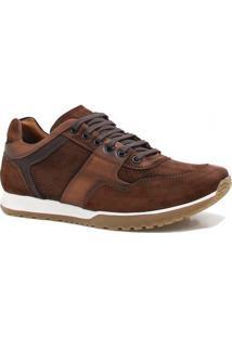 Sapatênis Zariff Shoes Casual Nobuck - Masculino-Marrom