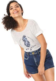 Camiseta Hang Loose Pinneaple Rustique Branca