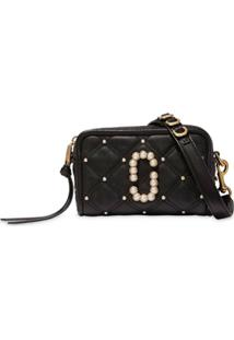 Marc Jacobs Bolsa Transversal The Quilted Softshot - Preto