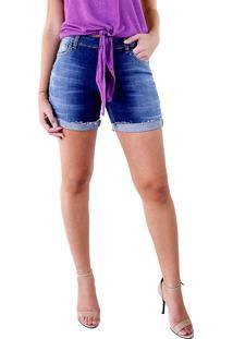 Bermuda Multi Ponto Denim Feminina Com Lycra Jeans
