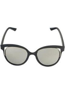 Óculos De Sol Khatto Cat Golden Feminino - Feminino-Preto