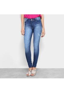 bb88d309c R$ 79,99. Zattini Calça Jeans Skinny Biotipo Estonada Cintura Média Soft  Melissa Feminina - Feminino-Azul