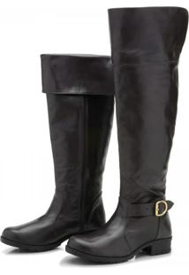 Bota Over Knee Atron Shoes 9113 Café