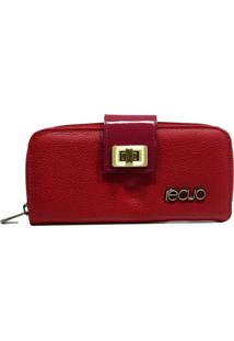 Carteira De Couro Recuo Fashion Bag Vermelho