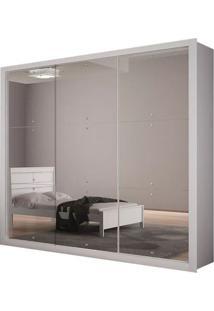 Guarda-Roupa Tokyo Gold Com Espelho - 3 Portas - Branco (Veneza 3 Espelhos)