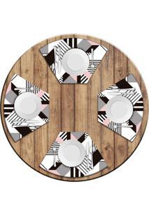 Jogo Americano Love Decor Para Mesa Redonda Wevans Geométric Kit Com 4 Pçs Love Decor