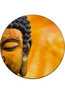 Tapete Love Decor Redondo Wevans Buda Amarelo 84Cm