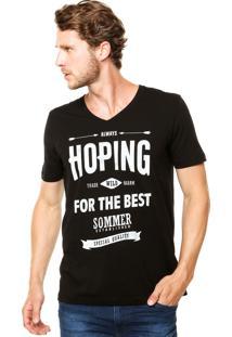 Camiseta Sommer Mini Hoping Preta