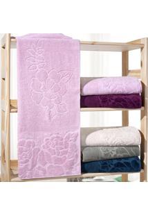 Kit 4 Toalhas De Banho Marselha 100% Algodão Rosa - Bene Casa