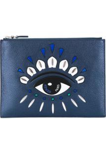 Kenzo Clutch A4 Kontact Eye - Azul