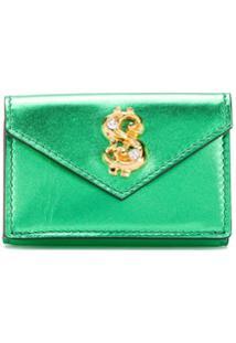 Moschino Carteira Envelope Com Aplicação De Cifrões - Verde