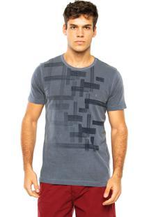 Camiseta Aramis Estampa Quadriculada Cinza