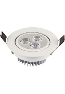 Luminária Led Downlight 3W, Redondo - Ctb