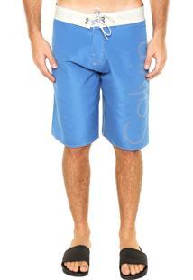 Bermuda Água Calvin Klein Básica Azul/Branca