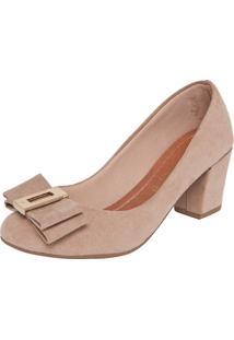 Scarpin Dafiti Shoes Laço Detalhe Bege