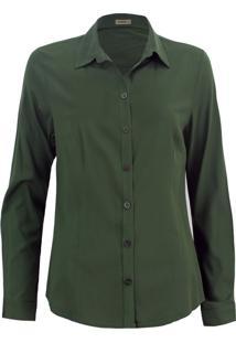 Camisa Intens Manga Longa Viscose Verde Militar