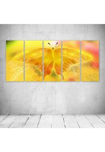 Quadro Decorativo - Butterfly Neon (3) - Composto De 5 Quadros
